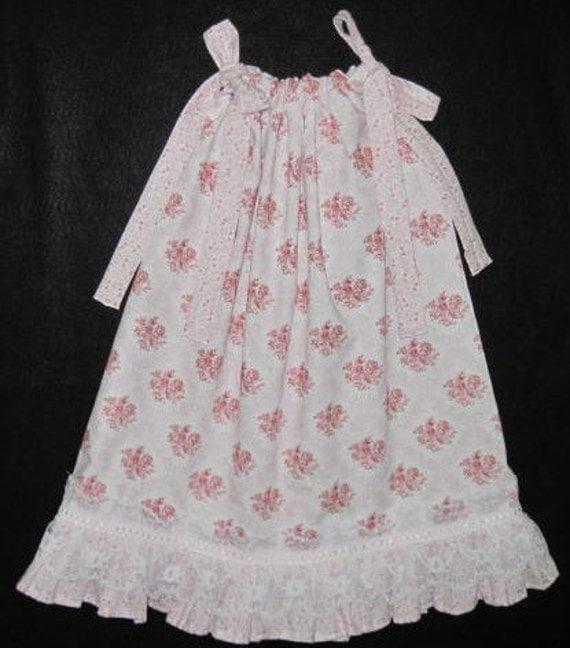 Sz 4T/5 Rose Flower Boutique Pillowcase Style Girls Dress For Easter