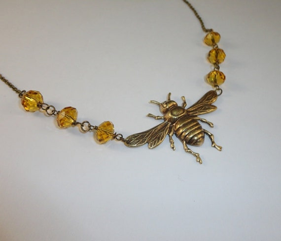 Large Bumblebee Necklace