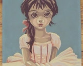 Vintage Paint by Number Wide Eyed Pink Ballerina Girl 9 x 12 inches
