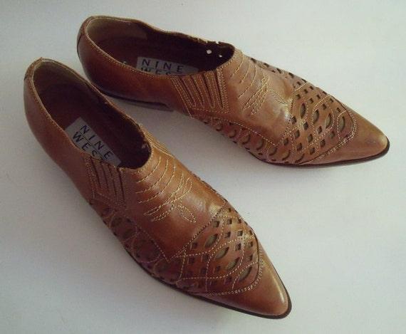 Kickin' Cowgirl Vintage Nine West Western Women's Boots Shoes 8 1/2 Medium