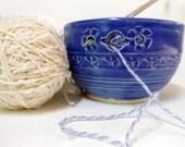 Sapphire Blue Yarn Bowl