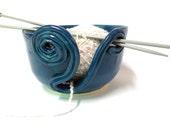 Teal Yarn Bowl