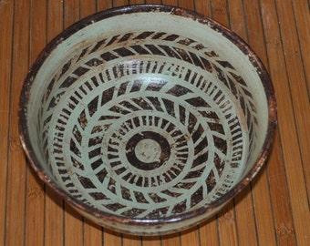 Aztec Stoneware Ceramic Bowl