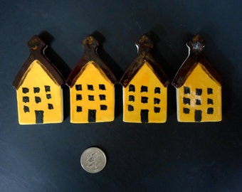 Yellow Schoolhouse Ceramic Tiles
