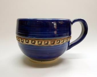 Cobalt Blue Porcelain Mug