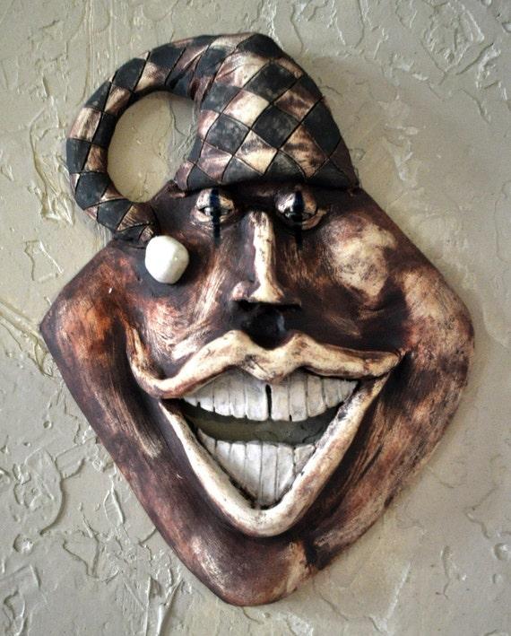 Happy Joker Ceramic Mask