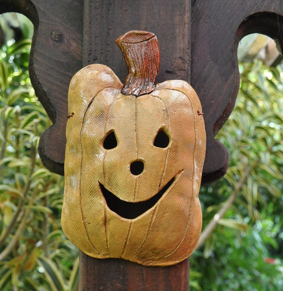 Sale-Little Pumpkin Ceramic Mask
