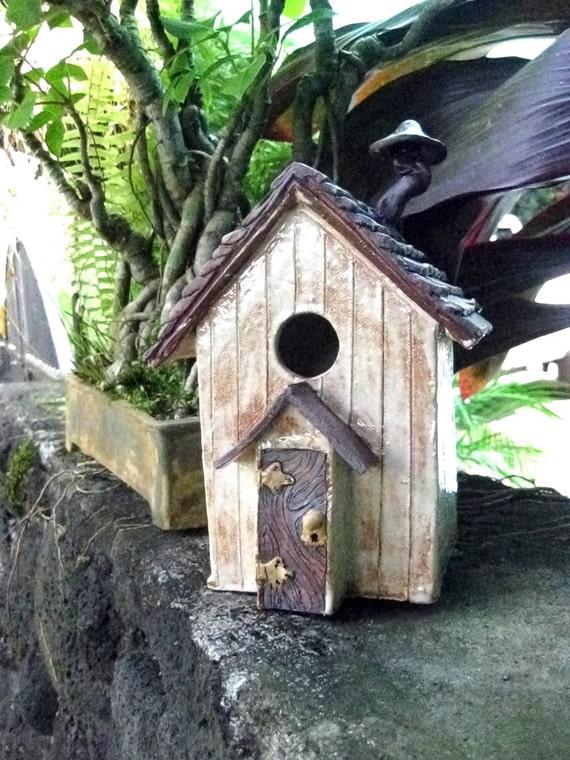 Ceramic Bird Out-House