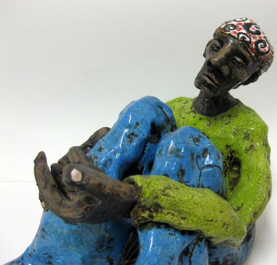 Waiting for Change Ceramic Sculpture