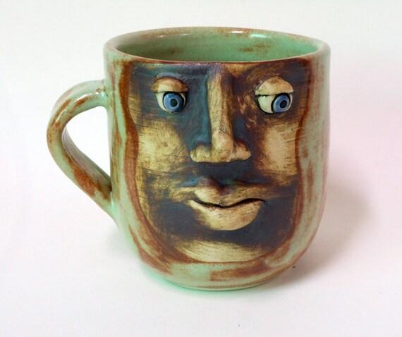 Pensive Blue Eyed Face Mug