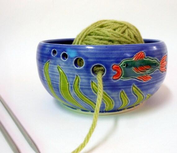 Porcelain Fishie Yarn Bowl