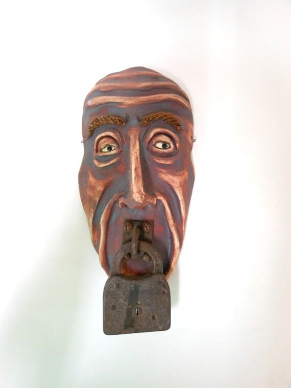 Speak No Evil Ceramic Mask