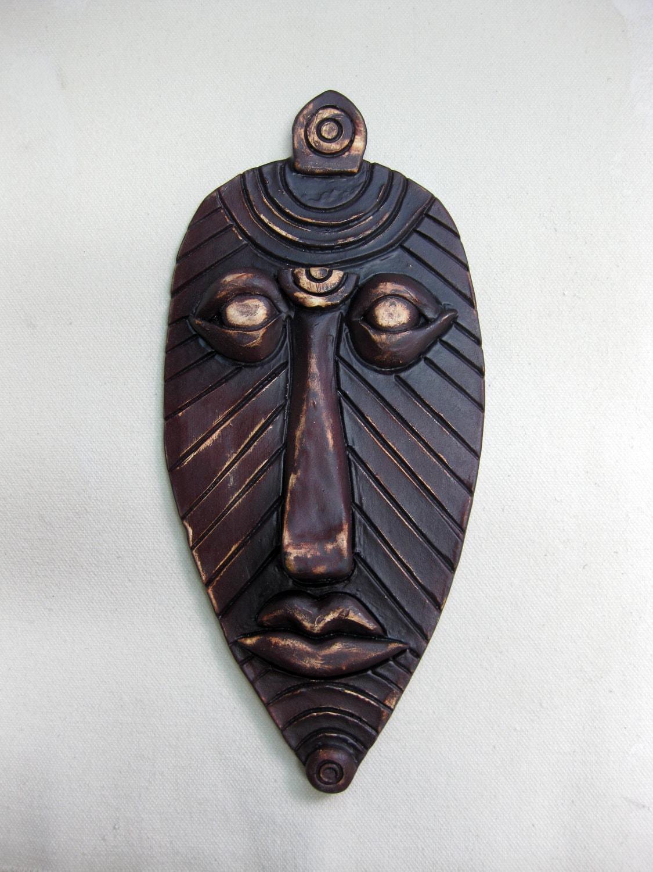 African Medicine Man Ceramic Mask