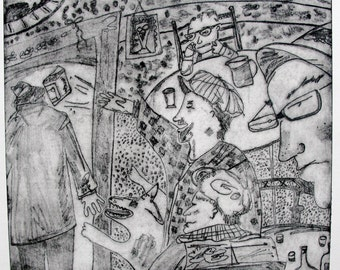 "Printmaking Etching The Crackerbox James Joyce's ""Ulysses"""