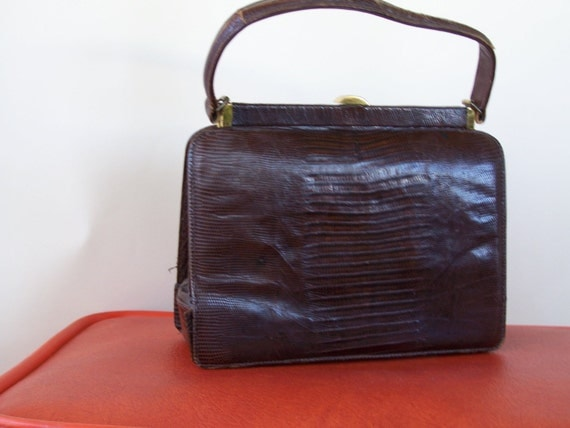 I Magnin Collectible 1950s purse Lizard leather