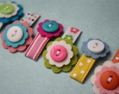 Cupcake Takes the Cake- Set of 6 Baby Snap Clips