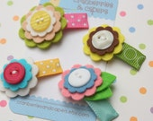 Easter Morning- Set of 4 Baby Snap Clips