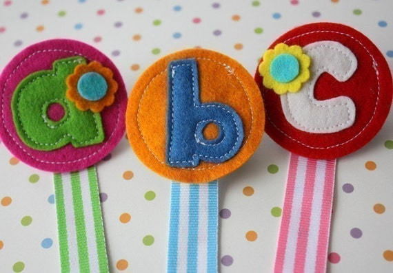 Personalized Felt Pacifier Clip-You Choose Letter and Colors
