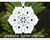 Lace machine embroidered Snowflake Ornament B