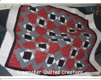 Crazy Maze Lap Quilt