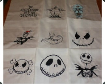 Nightmare Before Christmas Embroidered Quilt Blocks Set