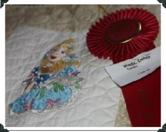 Southern Belles Machine Embroidered Twin Size Quilt