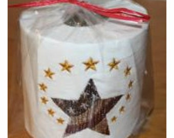 Primitive Stars and Stripes Machine Embroidered Toilet Paper