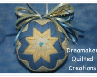 Handmade Blue Bells Quilted Spring Ornament SALE