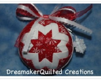 Handmade Snowflake Delight Christmas Quilted Ornament