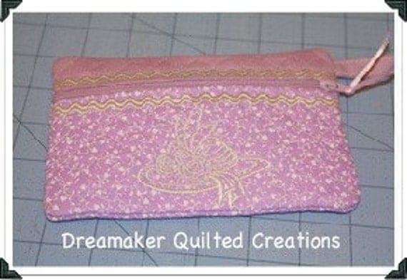 Lavender Hat Makeup Bag