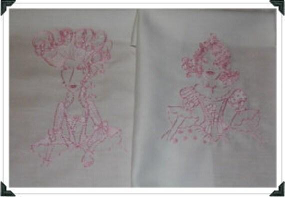 Madame Juliette Machine Embroidered Quilt Blocks Set  SALE