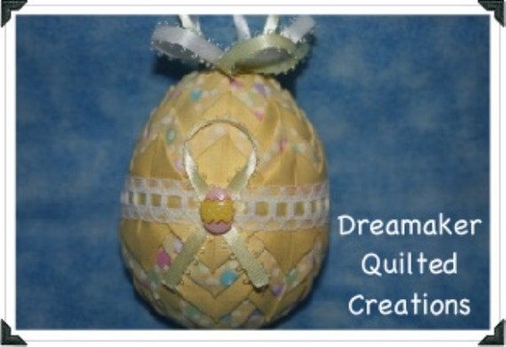 Handmade Easter Egg Quilted Ornament  LAST ONE