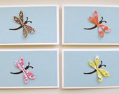 Dragonfly mini notecards - set of 4