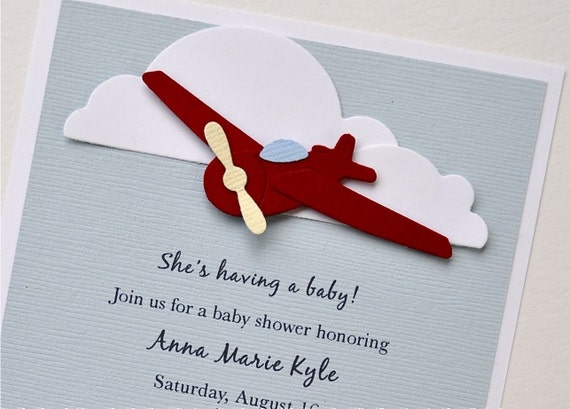 Reserved listing for AngeliqueWhitehouse - Baby shower airplane invite