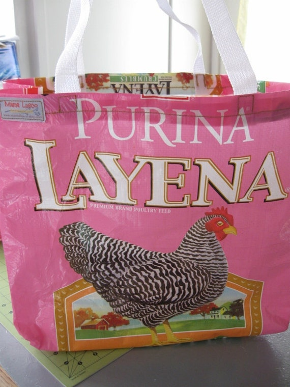 Pink Large Eco-Tote Chicken Feed Bag - LIMITED EDITION