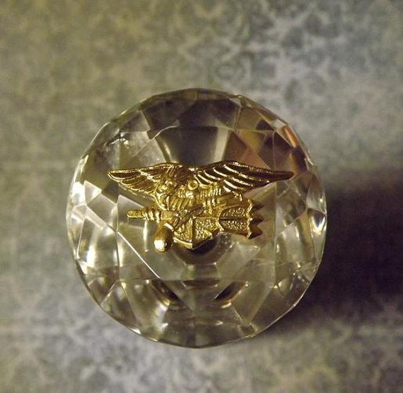 Navy Seal Trident Crystal Decanter Stopper By