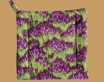 Lavender Bunch Square Pot Holders
