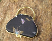 Bogo sale - Vintage Butterfly purse mirror compact - Free shipping