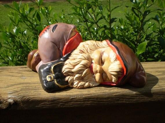 Garden Gnomes On Sale: Vintage 70s Ceramic Garden Gnome Bogo Sale