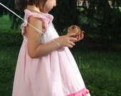Valentines Pink Pom Pom Cupcake Dress Size 2 or 3