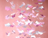 Pink Daydream Butterfly Mobile