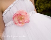 White Flower Girl Tutu Dress - 18-24m, 2t, 3t, or 4t