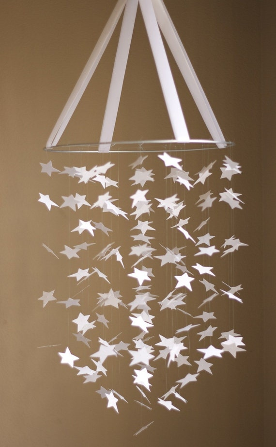 White Bright STAR Mobile KIT-DIY-Great Craft Project