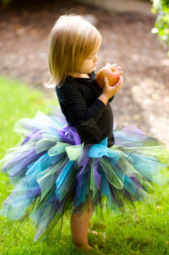 Fancy Bustle Peacock TUTU and Matching Headband-2pc SET - NB to 5T