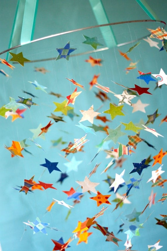 Paint me a Star Mobile-Great for Baby Shower Gifts, Nurseries, Bedrooms, Photographer Prop