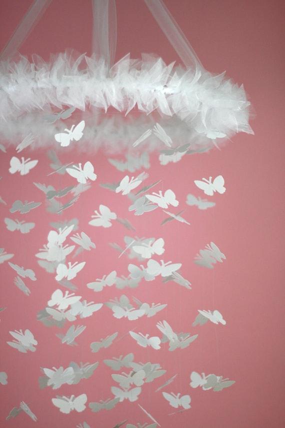 Whimsical white butterfly chandelier kit diy by littledreamersinc - Diy chandelier kit ...