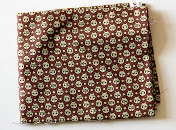 1 FQ Flutterby Ladybug fabric Tula Pink Brown Destash