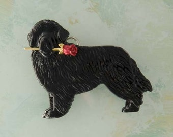 B470 Newfoundland Dog Pin/pendant