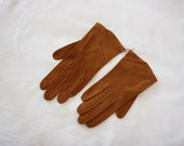 50's Christian Dior brown gloves