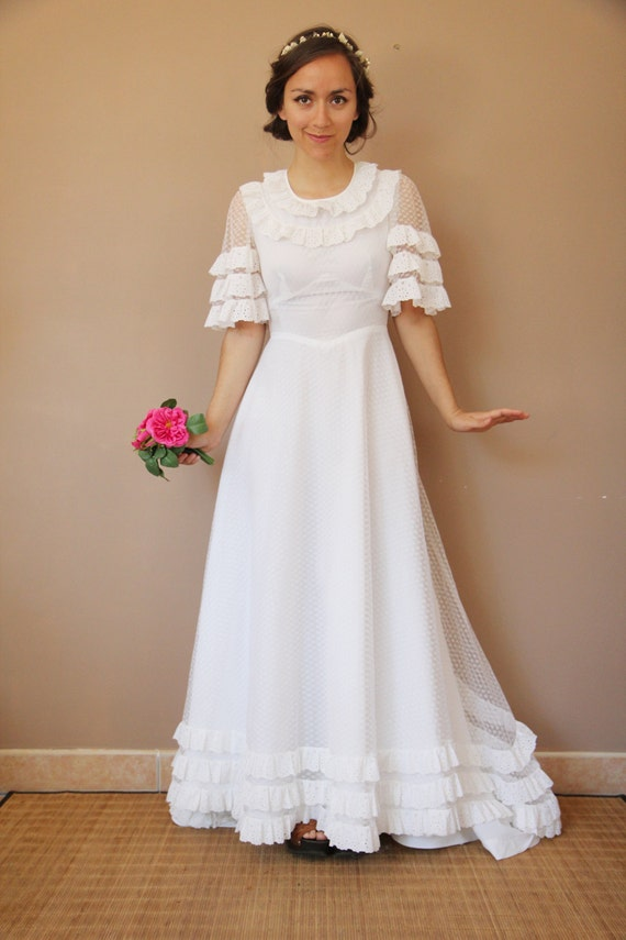 70 S Wedding Dress By Tapouillonvintage On Etsy